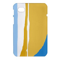 Blue and yellow lines Samsung Galaxy Tab 7  P1000 Hardshell Case