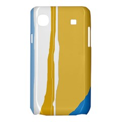 Blue and yellow lines Samsung Galaxy SL i9003 Hardshell Case