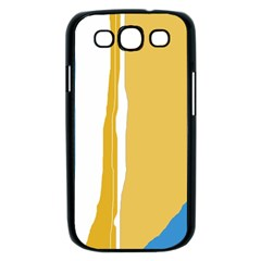 Blue and yellow lines Samsung Galaxy S III Case (Black)