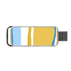 Blue and yellow lines Portable USB Flash (One Side)
