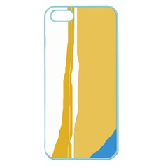 Blue and yellow lines Apple Seamless iPhone 5 Case (Color)