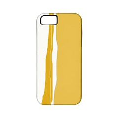 Blue and yellow lines Apple iPhone 5 Classic Hardshell Case (PC+Silicone)