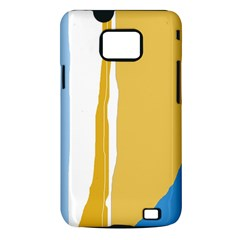 Blue and yellow lines Samsung Galaxy S II i9100 Hardshell Case (PC+Silicone)