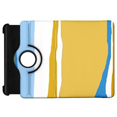 Blue and yellow lines Kindle Fire HD Flip 360 Case