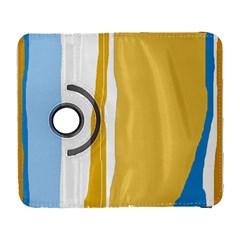 Blue and yellow lines Samsung Galaxy S  III Flip 360 Case