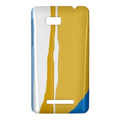 Blue and yellow lines HTC One SU T528W Hardshell Case