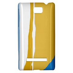 Blue and yellow lines HTC 8S Hardshell Case