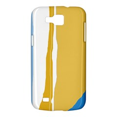 Blue and yellow lines Samsung Galaxy Premier I9260 Hardshell Case