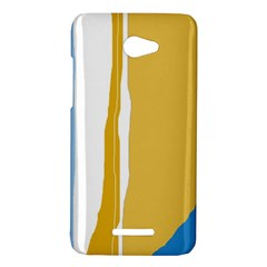 Blue and yellow lines HTC Butterfly X920E Hardshell Case
