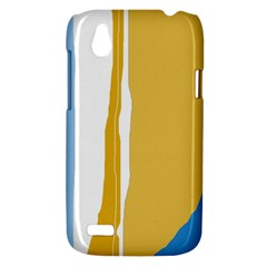 Blue and yellow lines HTC Desire V (T328W) Hardshell Case