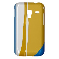 Blue and yellow lines Samsung Galaxy Ace Plus S7500 Hardshell Case