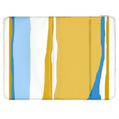 Blue and yellow lines Samsung Galaxy Tab 7  P1000 Flip Case