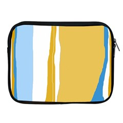 Blue and yellow lines Apple iPad 2/3/4 Zipper Cases