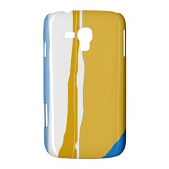 Blue and yellow lines Samsung Galaxy Duos I8262 Hardshell Case