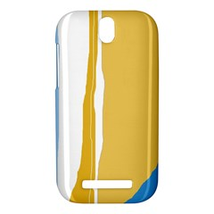 Blue and yellow lines HTC One SV Hardshell Case