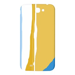 Blue and yellow lines Samsung Note 2 N7100 Hardshell Back Case