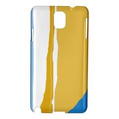 Blue and yellow lines Samsung Galaxy Note 3 N9005 Hardshell Case