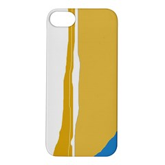 Blue and yellow lines Apple iPhone 5S/ SE Hardshell Case