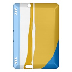Blue and yellow lines Kindle Fire HDX Hardshell Case