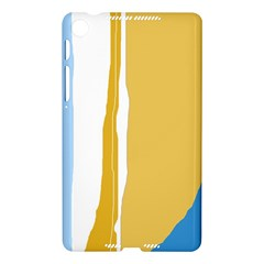 Blue and yellow lines Nexus 7 (2013)