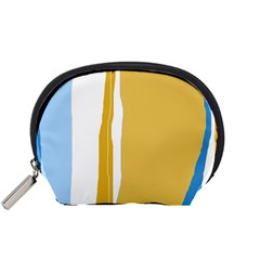 Blue and yellow lines Accessory Pouches (Small)