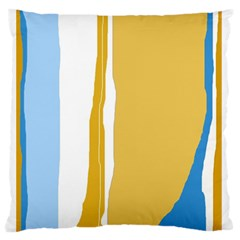 Blue and yellow lines Standard Flano Cushion Case (Two Sides)