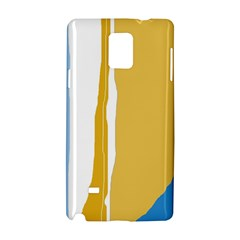 Blue and yellow lines Samsung Galaxy Note 4 Hardshell Case