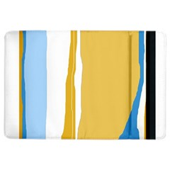 Blue and yellow lines iPad Air 2 Flip