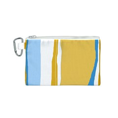 Blue and yellow lines Canvas Cosmetic Bag (S)