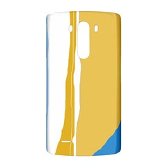 Blue and yellow lines LG G3 Back Case