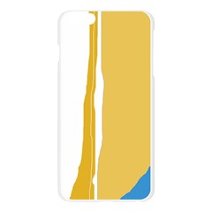 Blue and yellow lines Apple Seamless iPhone 6 Plus/6S Plus Case (Transparent)