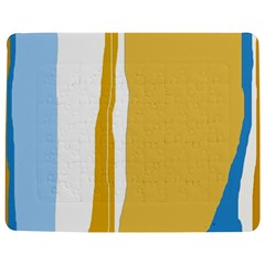 Blue And Yellow Lines Jigsaw Puzzle Photo Stand (rectangular)