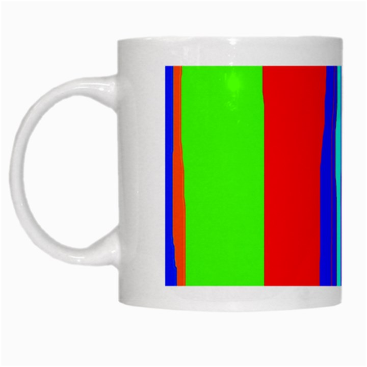 Colorful decorative lines White Mugs
