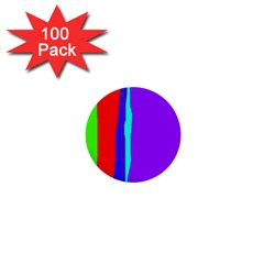 Colorful decorative lines 1  Mini Buttons (100 pack)