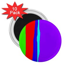 Colorful decorative lines 2.25  Magnets (10 pack)