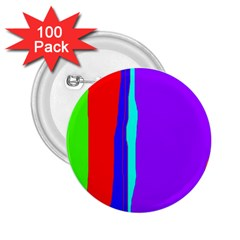 Colorful decorative lines 2.25  Buttons (100 pack)