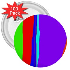 Colorful decorative lines 3  Buttons (100 pack)