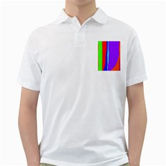 Colorful decorative lines Golf Shirts