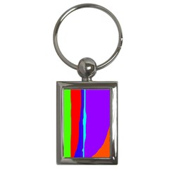 Colorful decorative lines Key Chains (Rectangle)