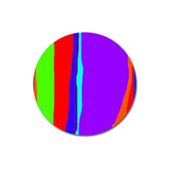 Colorful decorative lines Magnet 3  (Round)