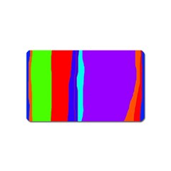 Colorful decorative lines Magnet (Name Card)