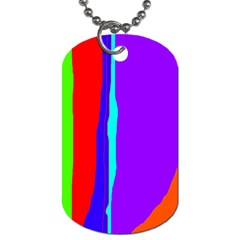 Colorful decorative lines Dog Tag (Two Sides)