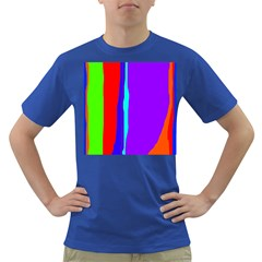 Colorful decorative lines Dark T-Shirt