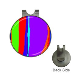 Colorful decorative lines Hat Clips with Golf Markers