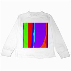 Colorful decorative lines Kids Long Sleeve T-Shirts