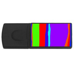 Colorful decorative lines USB Flash Drive Rectangular (4 GB)