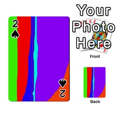 Colorful decorative lines Playing Cards 54 Designs