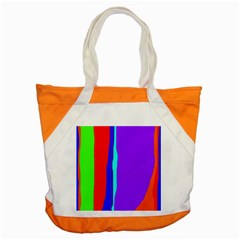 Colorful decorative lines Accent Tote Bag