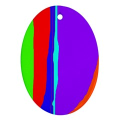 Colorful decorative lines Oval Ornament (Two Sides)