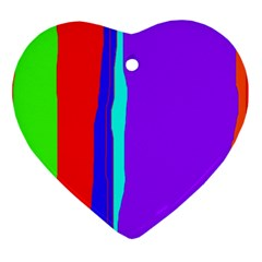 Colorful decorative lines Heart Ornament (2 Sides)